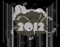 2012 - Happy New Year. Card in urban style stock illustration