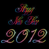 2012 Happy new year. Happy new year 2012 multicolor Stock Image