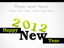 2012 Happy New year. Happy new year 2012, vector illustration royalty free illustration