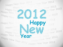 2012 HAPPY NEW YEAR. Background, illustration royalty free illustration