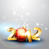 2012 happy new year. Beautiful 2012 happy new year vector background Stock Photography