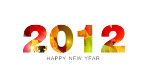2012 - happy new year Stock Photo