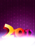 2012 happy new year background. Happy new year 3d style background stock illustration