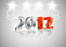 2012 Happy New Year card. 3d design royalty free illustration
