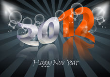 2012 Happy New Year card. 2012 Happy New Year art card vector illustration