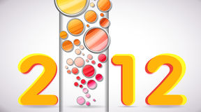 2012 Happy New Year with Colorful Bubbles Royalty Free Stock Photo