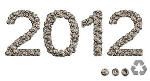 2012 happy new year with conservation Royalty Free Stock Image