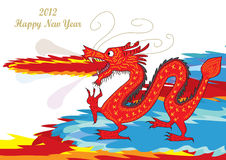 Fire Dragon Happy New Year_eps Stock Photography