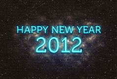 2012 Happy New Year greeting Royalty Free Stock Photography