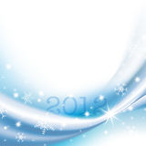 2012 Happy New Year greeting card. Soft winter background with stars Royalty Free Stock Photo