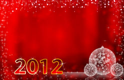 2012 Happy New Year greeting card or background Stock Photos