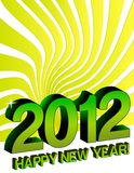 2012 Happy New years. Card design Royalty Free Stock Photo
