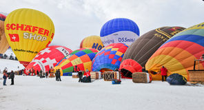 2012 het Festival van de Ballon van de Hete Lucht, Zwitserland Royalty-vrije Stock Afbeelding