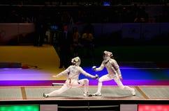 2012 het Schermen van de Wereld Kampioenschappen in Kyiv Stock Afbeelding