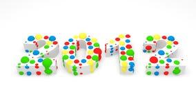 2012 hicieron de esferas coloridas Fotos de archivo