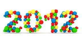2012 hicieron de esferas coloridas Imágenes de archivo libres de regalías