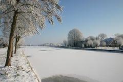 2012 holländska vinter Arkivfoto