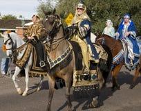 2012 Horseback van de Parade van de Kom van de Fiesta Ruiters Stock Foto