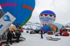 2012 Hot Air Balloon Festival, Switzerland Stock Image