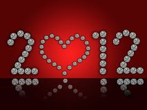 2012 illustration with diamonds Stock Images