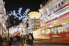 2012 indicatori luminosi di Natale sulla via di Londra Immagine Stock