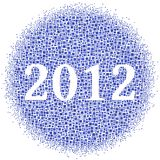2012 inside a cloud of squares Royalty Free Stock Image