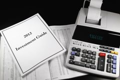 2012 Investment Guide Royalty Free Stock Photos