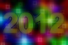 2012 Jaar vector illustratie
