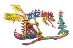 2012 - jaar van de rode draak Stock Foto