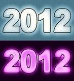 2012 Jahr lizenzfreie abbildung