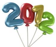 2012 Jahr-Ballone Lizenzfreies Stockbild