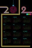 2012 kalendarz Obraz Royalty Free