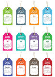 2012 kalendarz Fotografia Royalty Free
