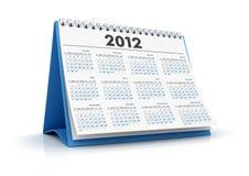 2012 kalendarz ilustracja wektor