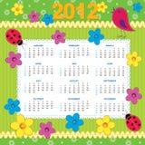 2012 kalendarzowa Niedziela Royalty Ilustracja