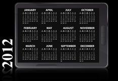 2012 kalendarzowego elektroniczny Zdjęcia Royalty Free