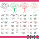 2012 kalendarzowego sezonu Obrazy Stock