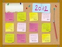 2012 kalendarzowy początek Niedziela tydzień Zdjęcie Stock