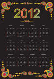 2012 Kalender Stock Foto