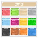 2012 Kalender Royalty-vrije Stock Foto