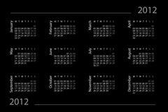 2012 kalenderår Vektor Illustrationer