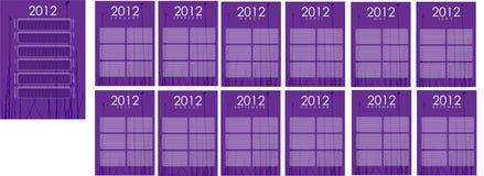 2012 Kalender. Vector Achtergrond. Illustratie. Royalty-vrije Stock Afbeeldingen