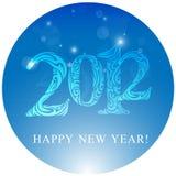 2012 karcianego bożego narodzenia Zdjęcie Royalty Free
