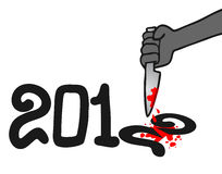 2012 kill. Creative design of 2012 end message stock illustration