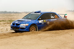 2012 Kuwait Rally - Mitsubishi Lancer Evo VIII Royalty Free Stock Photos