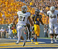 2012 le football de NCAA - Baylor @ WVU Photos stock