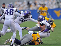 2012 le football de NCAA - WVU contre la TCU Photo libre de droits
