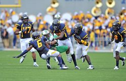 2012 le football de NCAA - WVU contre Marshall Photo libre de droits