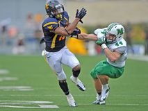 2012 le football de NCAA - WVU contre Marshall Photos libres de droits