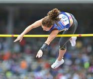 2012 Leichtathletik - Dame-Stabhochsprung Lizenzfreies Stockbild